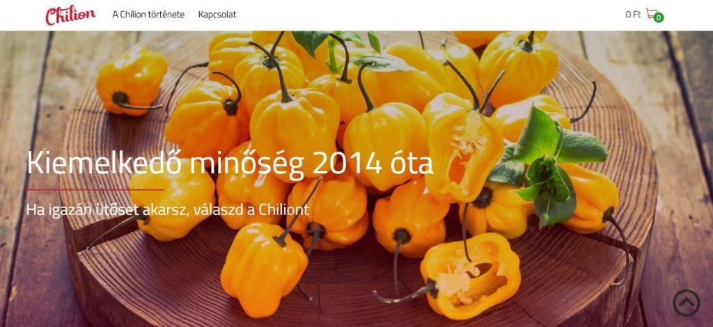premiumchili.hu weboldal, webshop